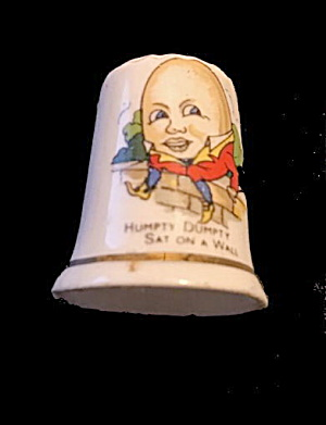 Vintage Humpty Dumpty Thimble - English