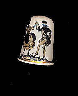 Lovely Made In England Romance Porcelain Thimble