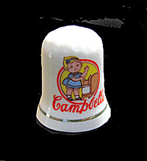 Vintage Campbell's Kid Advertising Porcelain Thimble (Image1)