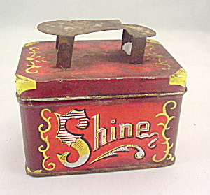 "Early 1900s ""Shoe"" Shine 5 Cents Tin (Image1)"