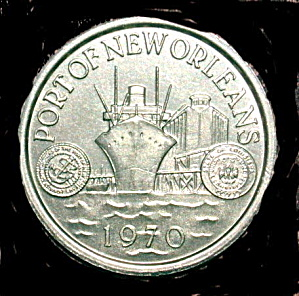 1970 Port of New Orleans Token (Image1)
