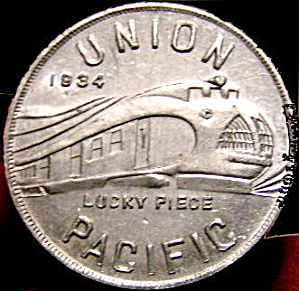 1933-1934 Union Pacific Railroad Good Luck Token (Image1)