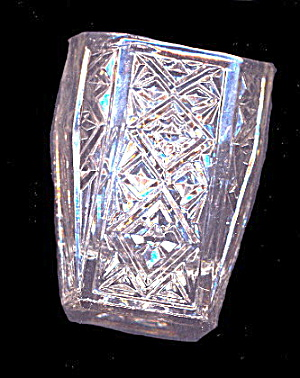 "Vintage 2 1/4"" Pressed Glass Toothpick Holder (Image1)"
