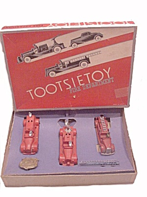 1930s Tootsietoy Fire Department In Box
