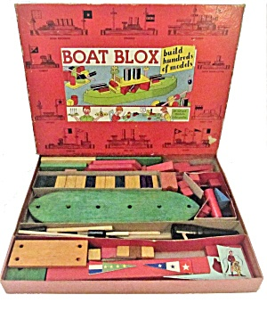 "1930s ""boat Blox"" #1717 By Transogram"