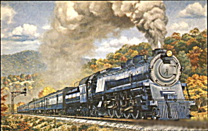 1973 Baltimore & Ohio 5600 Locomotive Postcard (Image1)