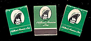 3 Vintage Holland-America Line (Cruise Ship) Matchbooks (Image1)