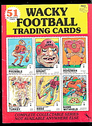 1988 Wacky Football Trading Cards Book Uncut