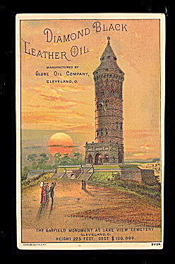 1890s Diamond Black Leather Oil Trade Card (Image1)