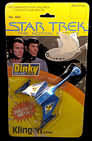 Star Trek 1979 Dinky Kling-On Cruiser with Card (Image1)