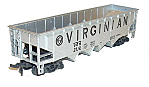 Tyco 1970s Virginian 4 Bay Hopper Car In Box