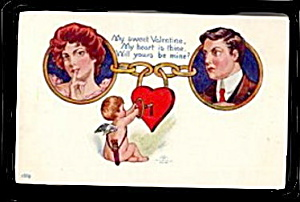 Lovely 1907 Ullman Post Card Valentine's Day Postcard (Image1)