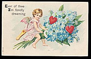 1910 Girl Cherub Valentine's Day Postcard (Image1)
