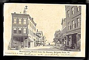 Bellow Falls, VT, Westminster Street 1905 Postcard (Image1)