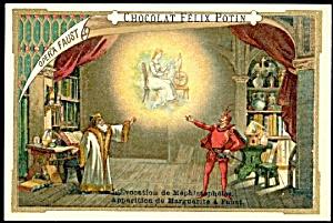 1885 Chocolat Felix Potin 'Opera Faust' Trade Card (Image1)