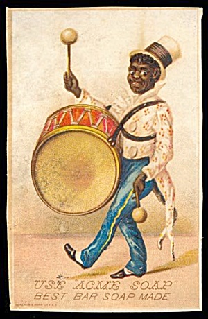 1890s Black Americana Acme Soap Trade Card