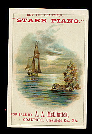 1880s 'Starr Piano' Victorian Trade Card (Image1)