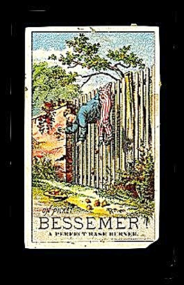 1889 Bessemer Base Burner Victorian Trade Card (Image1)