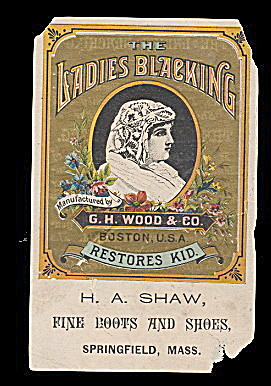 1880s Ladies Blacking MA Victorian Trade Card (Image1)