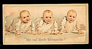 1880s Hood's Sarsaparilla Babies Trade Card