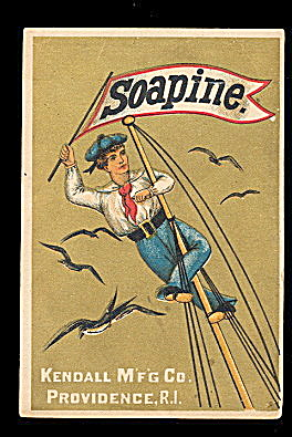 1880s Soapine (Soap) Kendall Mfg Trade Card (Image1)