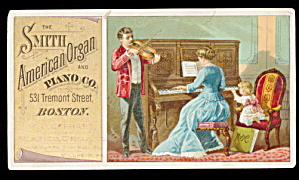 1880s Smith American Organ/piano Trade Card