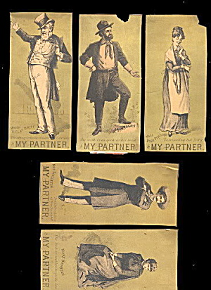 5 1879 'my Partner' Play Victorian Trade Cards