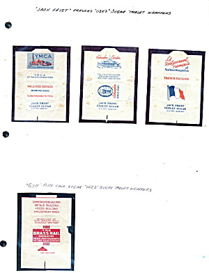 1939 World's Fair Domino Sugar Packets - 4 Variety