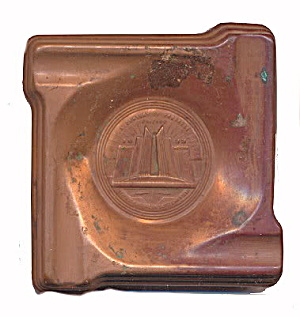 1933 Chicago World's Fair Copper Pin / Change Tray