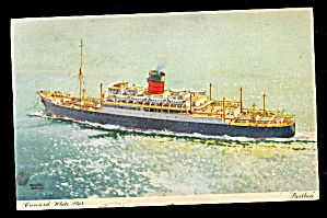 Cunard White Star 'parthia' Ship 1950 Postcard