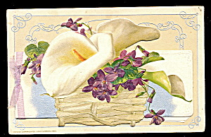 "1908 Winsch Lily ""easter"" Booklet Postcard"