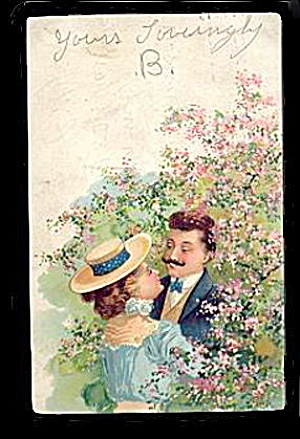 1907 Lovely PFB Couple Romance Postcard (Image1)
