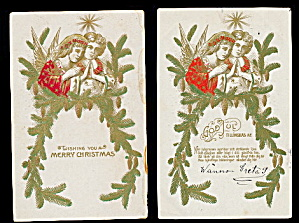 2 1907 Christmas Angels Postcards (Image1)