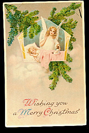 1907 German Christmas Angel Postcard - Lovely (Image1)