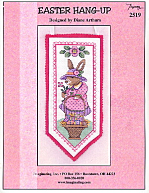 'Easter Hang-Up' Easter Rabbit Cross Stitch Pattern (Image1)