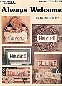 Leisure Arts 'Always Welcome' Cross Stitch Leaflet (Image1)