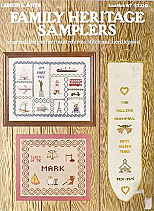 Family Heritage Samplers Counted Cross Stitch Pattern (Image1)