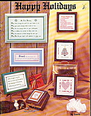 "1979 'Happy Holidays"" Vintage Cross Stitch Booklet (Image1)"