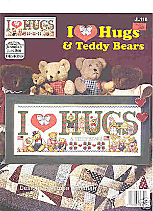 'I Love Hugs' Cross Stitch Patterns - Teddy Bears (Image1)
