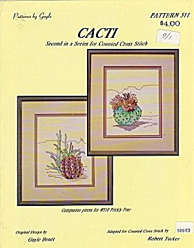 'Cacti'  Cross Stitch Pattern Booklet (Image1)