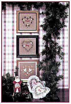 'Merry Hearts I' Christmas Hearts Cross Stitch Chart (Image1)
