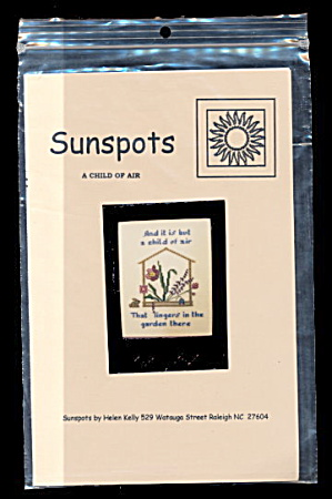 'A Child of Air' Sunspots Cross Stitch Pattern - Floral (Image1)