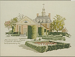 'Governor's Palace' Colonial Gardens Cross Stitch (Image1)