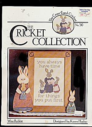 'Wise Rabbit' Cricket Collection Cross Stitch (Image1)