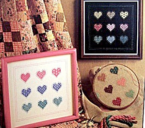 Home Spun 'Charmed Hearts' Cross Stitch Patterns (Image1)