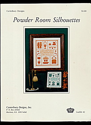 'Powder Room Silhouettes' Sampler Cross Stitch Pattern (Image1)