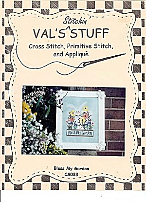 Val's Stitchin'Stuff- BLESS MY GARDEN- Cross Stitch (Image1)