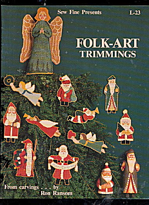 Folk-Art Trimmings Christmas Cross Stitch Pattern (Image1)