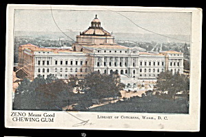 Zeno Chewing Gum Library Of Congress 1906 Postcard