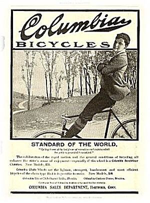 """Columbia Bicycles"" 1903 Advertisement (Image1)"